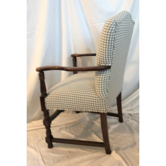 Vintage French Fauteuil Arm Chair - Custom Upholstered - Image 4 of 6