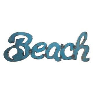 Vintage Beach Marquee Sign