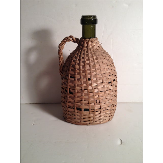Image of French Wicker-Wrapped Wine Bottle