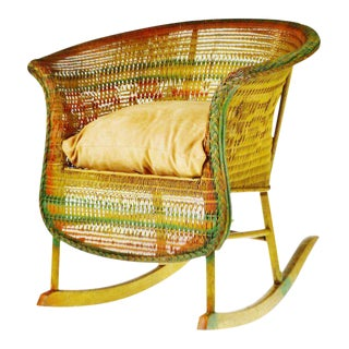 Early Child's Wicker Rocking Chair
