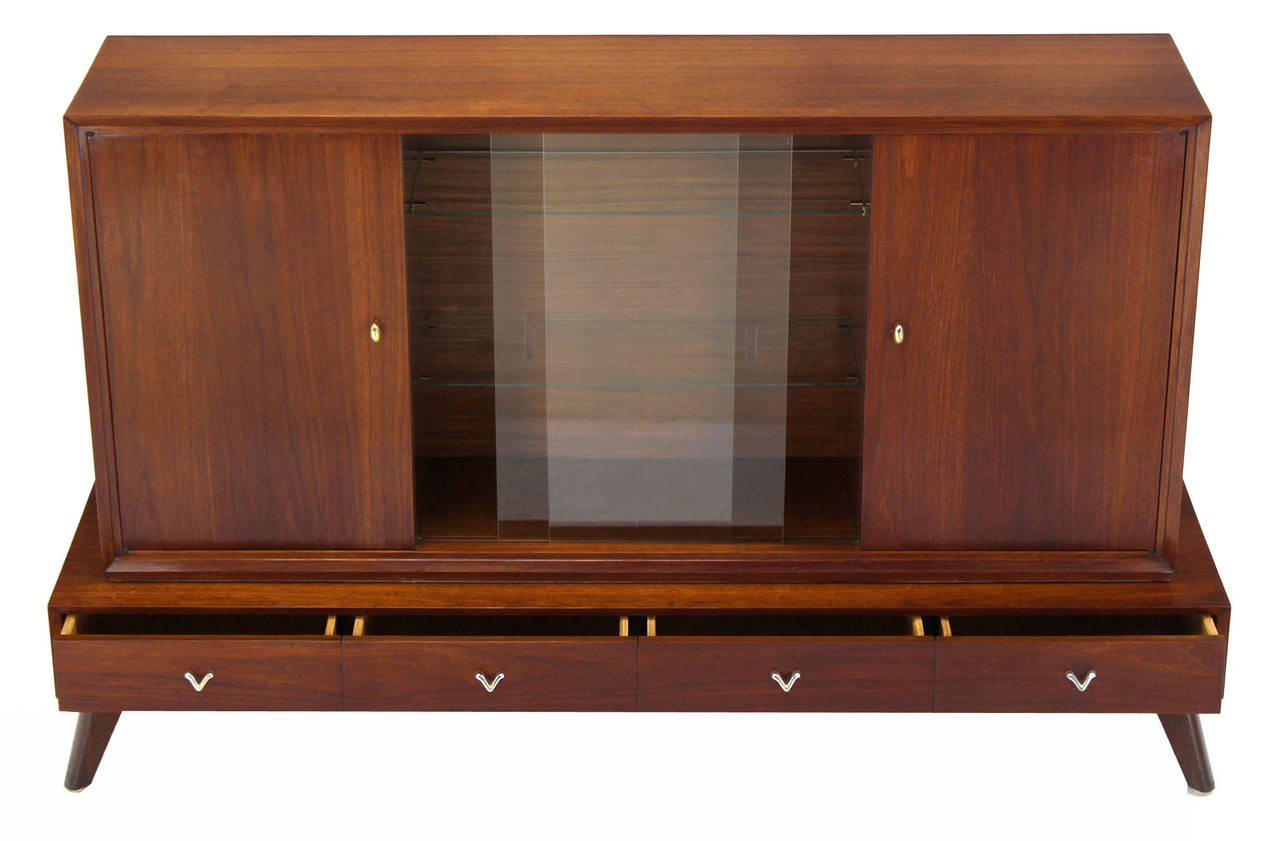 Mid Century Modern Credenza Or Low China Cabinet   Image 5 Of 8