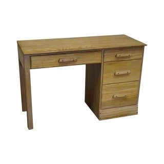 Brandt Ranch Oak Rustic Southwest Style Writing Desk (A)