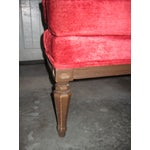 Image of Vintage Red Velvet Throne Chair