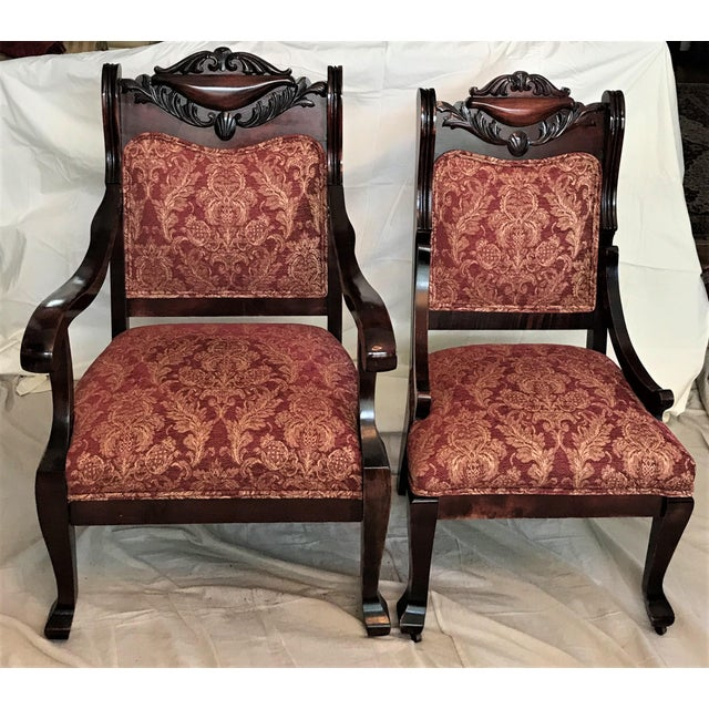 Empire Revival His & Hers Chairs - a Pair - Image 2 of 11