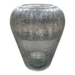 Crackled Glass Vase