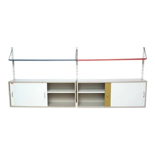 Pilastro Two-Section Wall Unit with Double Cabinets