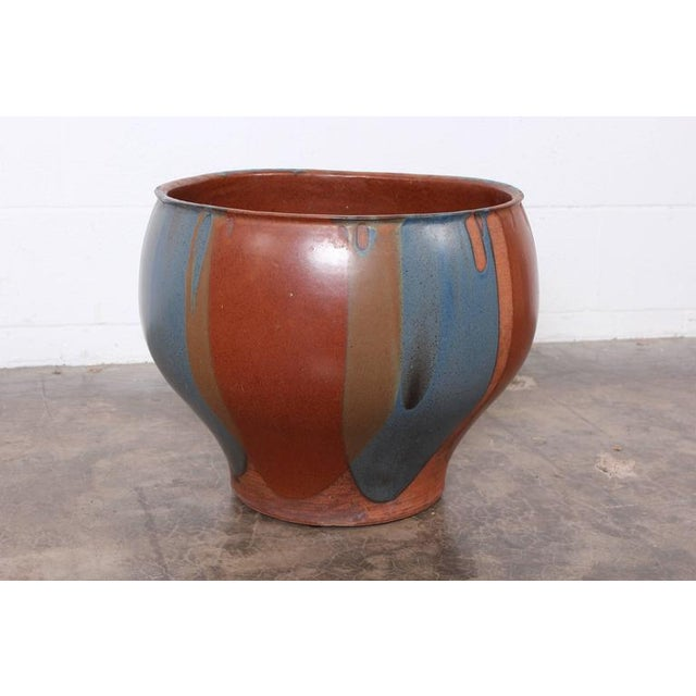 David Cressey Flame Glazed Planter for Architectural Pottery - Image 10 of 10
