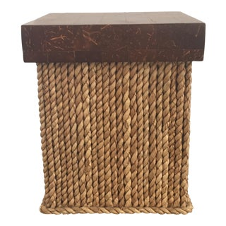 Roped Covered Wooden Box