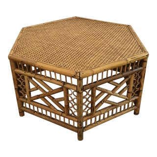 Chinoiserie Rattan Bamboo Coffee Table
