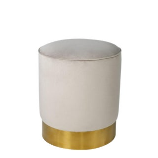 Contemporary Gray & Gold Stool