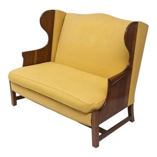 Original 1970s Stickley Love Seat in Yellow Fabric