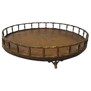 Boho Chic Bamboo Edge Brass Tray