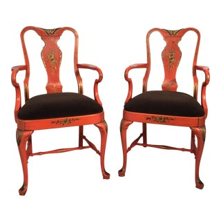 Chinoiserie Tole Armchairs - A Pair