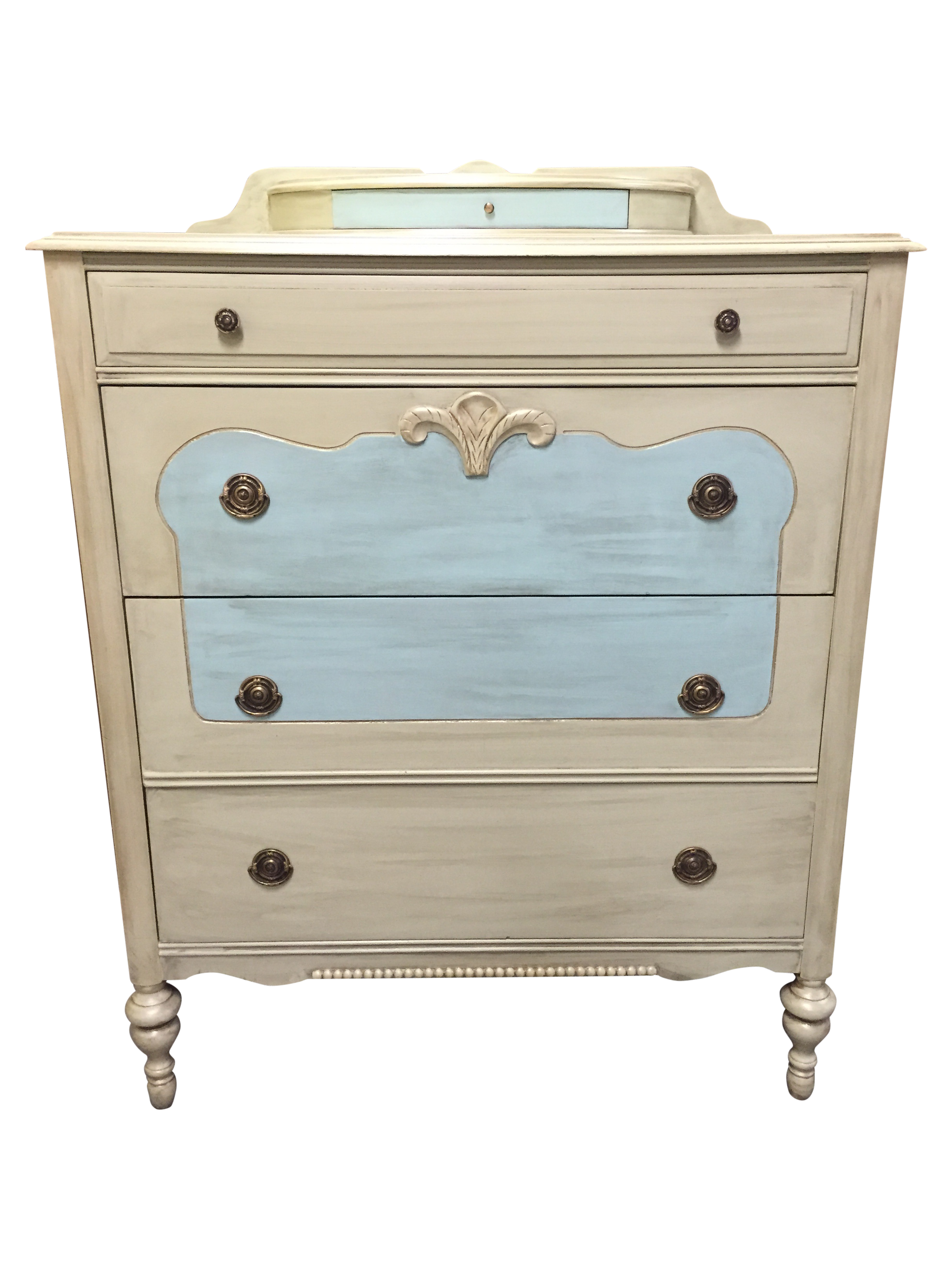 1930 S Chest Of Drawers Antiqued Ivory Chairish