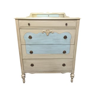 1930's Chest of Drawers Antiqued Ivory