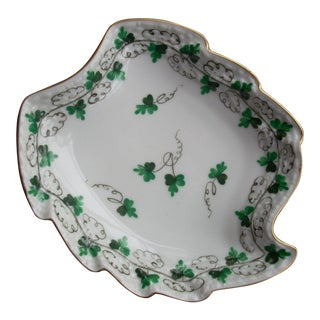 Herend Leaf Shaped Catchall Dish