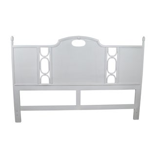 Ficks Reed Biscayne White King-Size Headboard