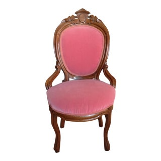 Pink Velvet Accent Chair