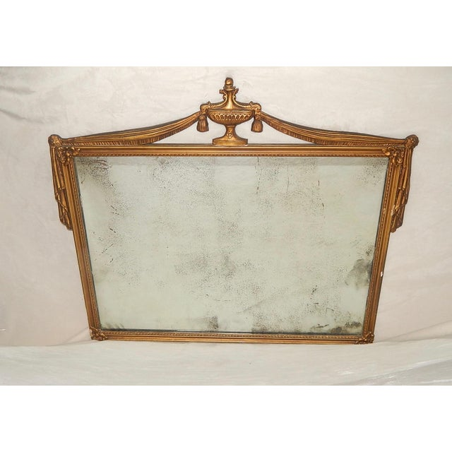 Image of Antique French Gilt Wood Mirror