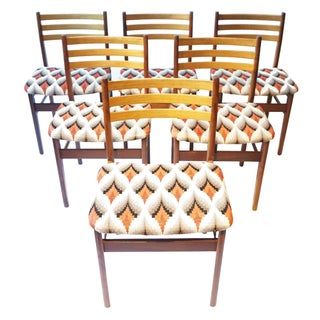 Danish Modern Teak & Beech Chairs - Set of 6