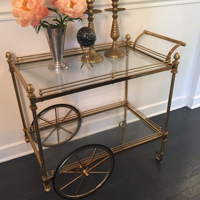Vintage Hollywood Regency Bar Cart - Image 4 of 9