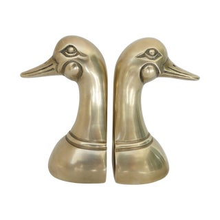 Brass Mallard Bookends - Pair