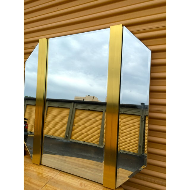 Retro Octagon Beveled Glass Mirror - Image 4 of 9