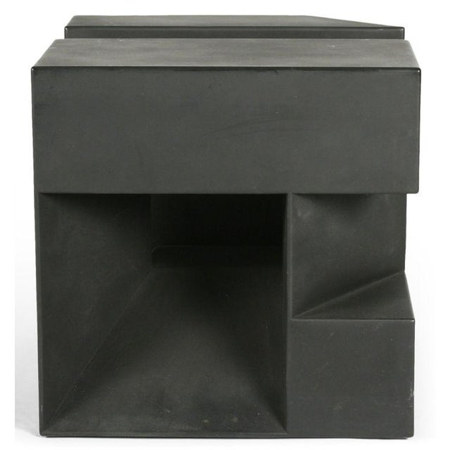 """Black Cube"" Aluminum Sculpture by Alfredo Halegua - Image 3 of 10"