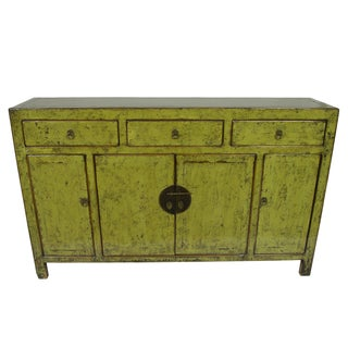 High Lacquer Distressed Sideboard
