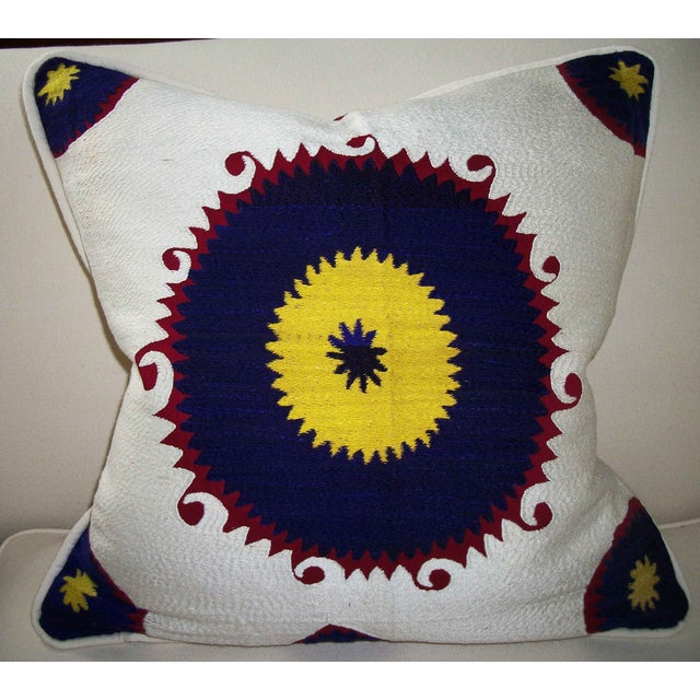 Vintage Suzani Bolinpush Pillow - Image 2 of 4