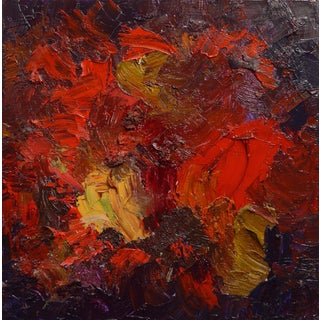"Fred Visalia ""Royal Fire"" Oil Painting"