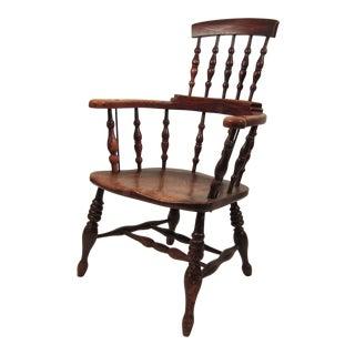 19th Century English Elm Tavern Chair