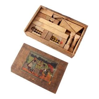 Antique Victorian Toy Building Blocks Set