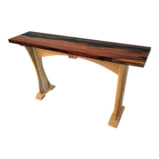 Live Edge Cherry & Maple Console Table