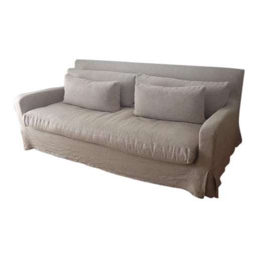 Restoration Hardware Belgian Slope Arm Sofa Chairish