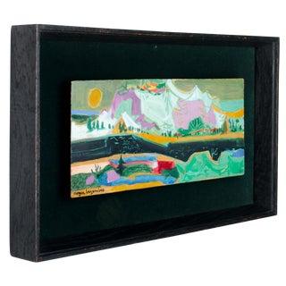 "Roger Bezombes ""Neige"" Original Oil on Panel"