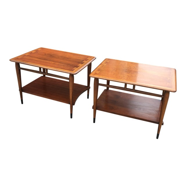 Lane Acclaim Dovetail Side Tables - A Pair - Image 1 of 6