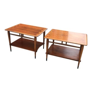 Lane Acclaim Dovetail Side Tables - A Pair