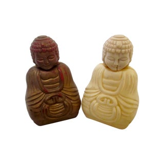 Refillable Buddha Fragrance Bottles - A Pair