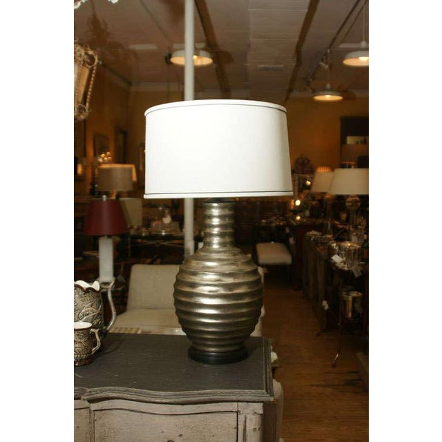 One Silvered Bee Hive Lamp - Image 2 of 6