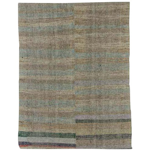"Vintage Turkish Pala Kilim Rug - 70"" x 93"" - Image 1 of 5"
