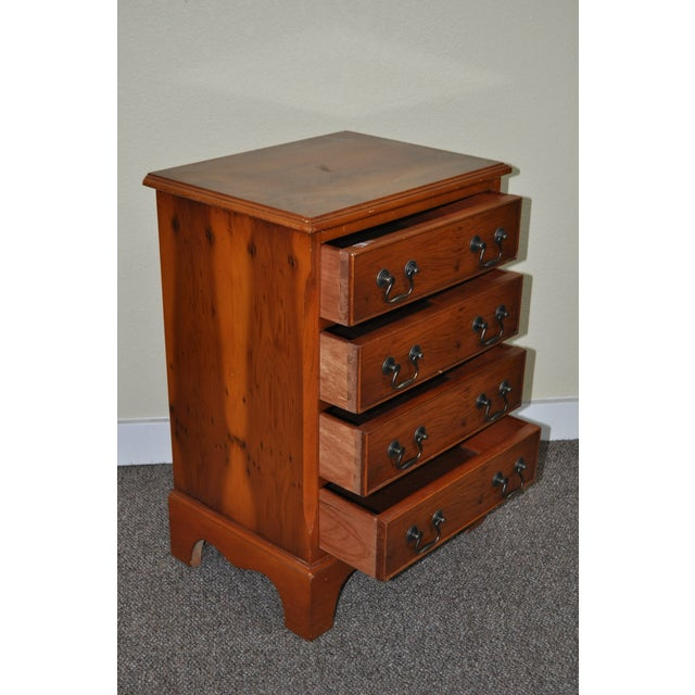 Vintage Yew Wood Miniature Chest of Drawers - Image 4 of 5