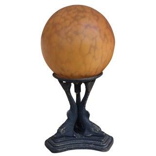Art Deco Dolphin Ball Lamp