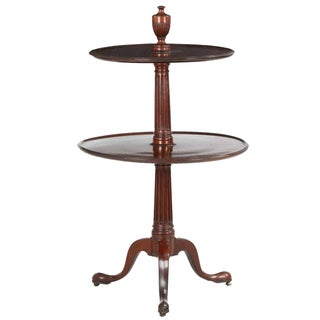Georgian Period Mahogany Two-Tier Dumbwaiter Table