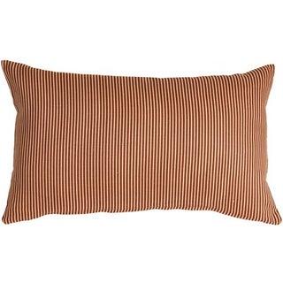 Pillow Decor - Ticking Stripe Sienna 12x20