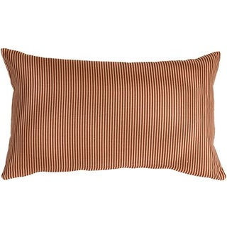 Pillow Decor - Ticking Stripe Sienna 12x20