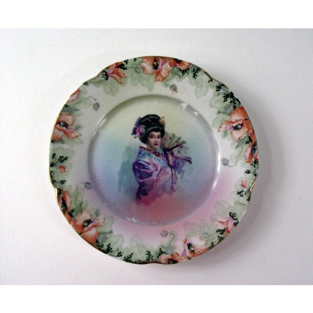 Vintage Geisha Girl Plate - Image 2 of 3