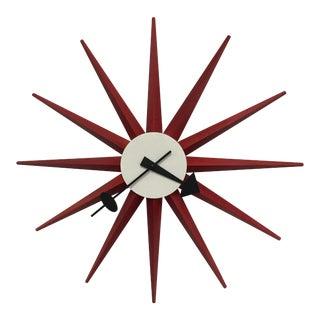 George Nelson Red Starburst Clock