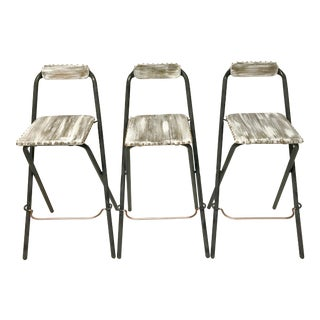 Rose Gold Studded Folding Stools - Set of 3