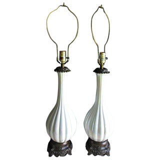 Mid-Century Tyndale Irriedence Table Lamps - Pair
